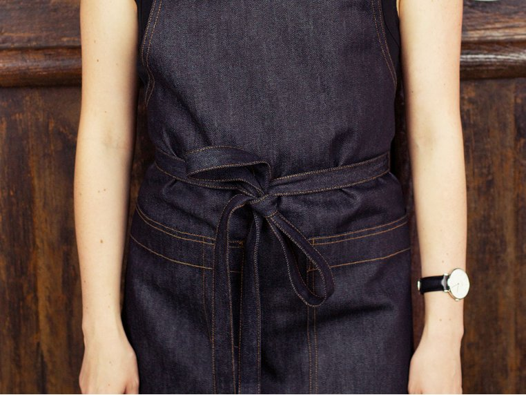 Cross-Back Denim Apron by Art Style Design Living - 2