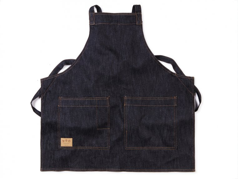 Cross-Back Denim Apron by Art Style Design Living - 5