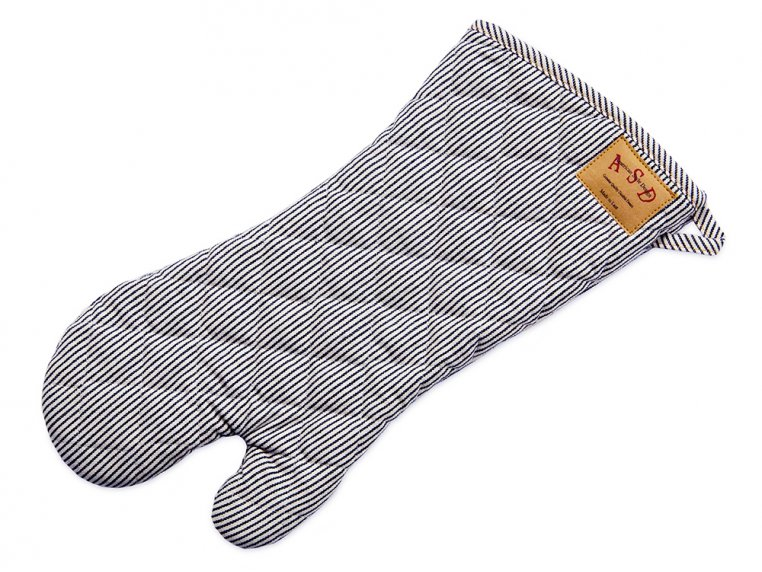 Denim Oven Mitt - Railroad Stripe by Art Style Design Living - 1