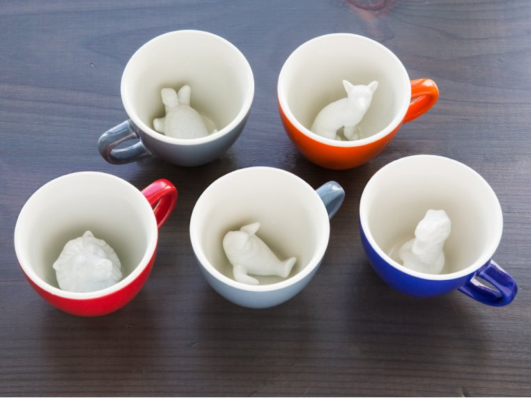 Hidden Creature Mugs - 3 Pack by Creature Cups - 3