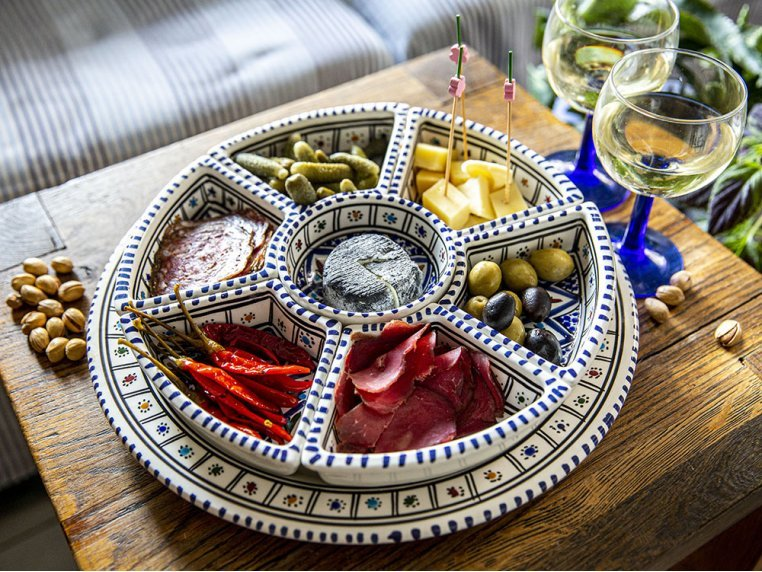 Round Dipping & Serving Plate Set by Kamsah - 3