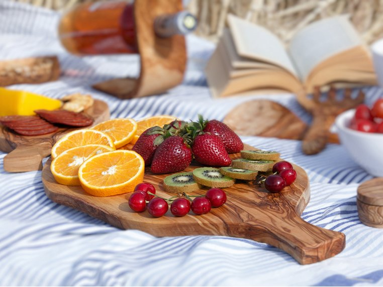 Olive Wood Charcuterie & Cheese Board