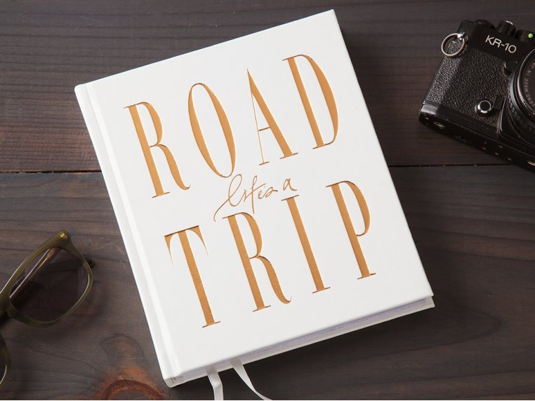 Inspirational Road Trip Journal - White by Axel and Ash - 1