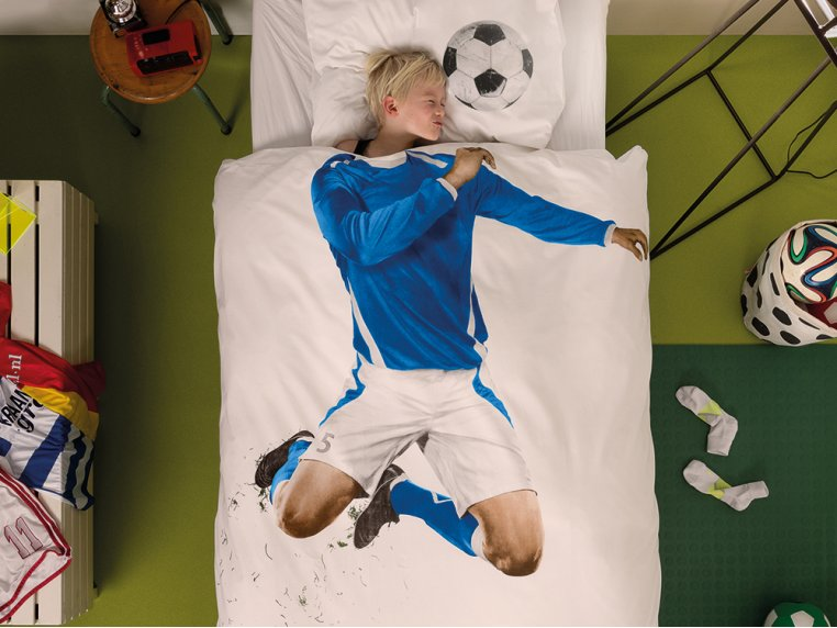Whimsical Character Duvet Set - Twin - Soccer Player by Snurk Living - 1