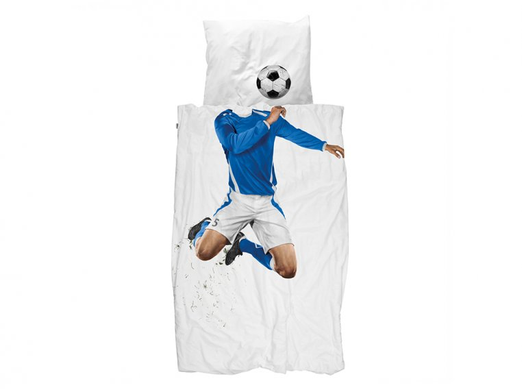 Whimsical Character Duvet Set - Twin - Soccer Player by Snurk Living - 2