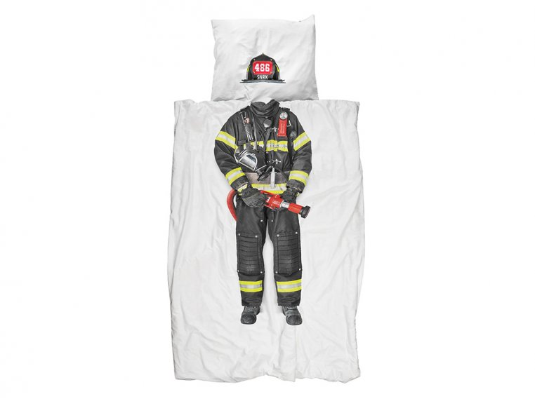 Whimsical Character Duvet Set - Twin - Firefighter by Snurk Living - 1