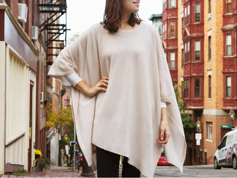 Cashmere Travel Poncho by My Bodhi - 1
