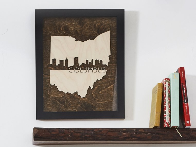 Framed Cityscape State Art by Grainwell - 1