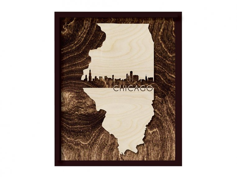 Framed Cityscape State Art by Grainwell - 43