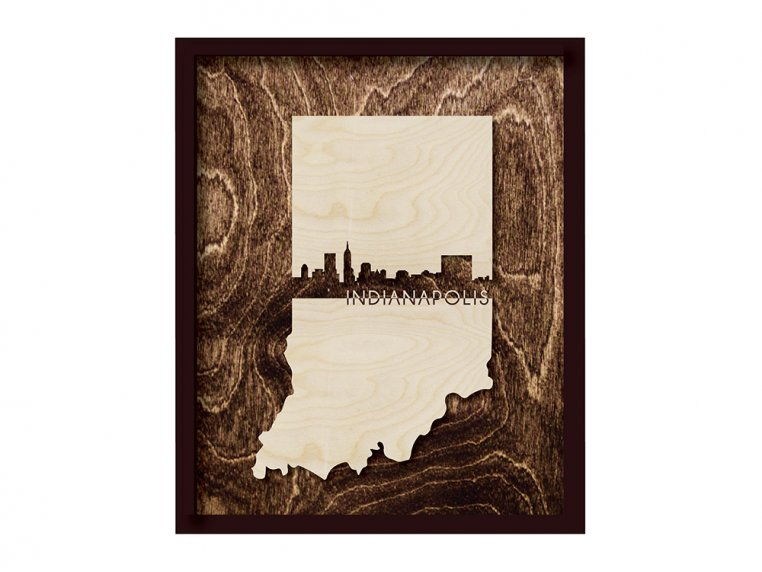 Framed Cityscape State Art by Grainwell - 45