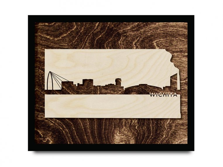 Framed Cityscape State Art by Grainwell - 47