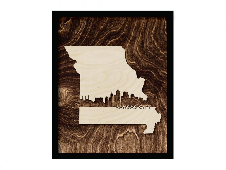 Framed Cityscape State Art by Grainwell - 69