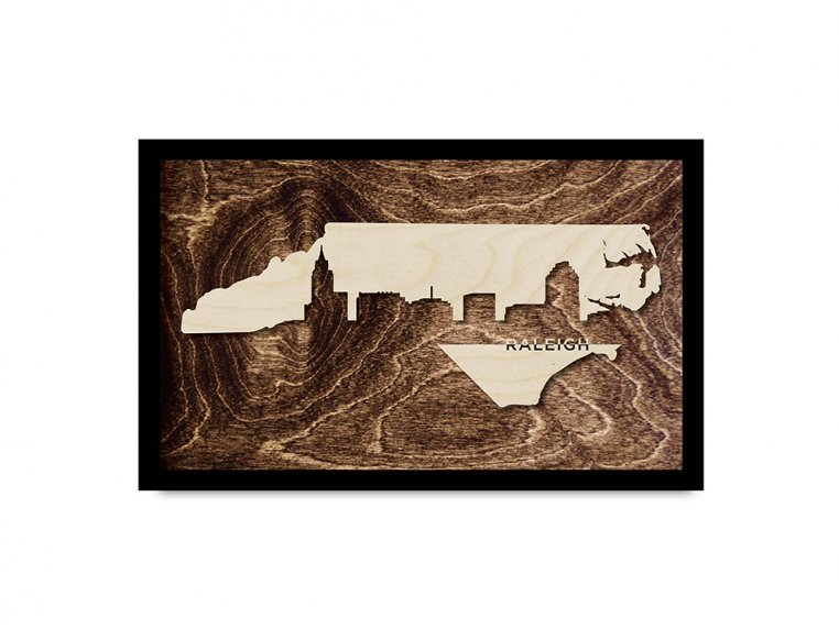 Framed Cityscape State Art by Grainwell - 74