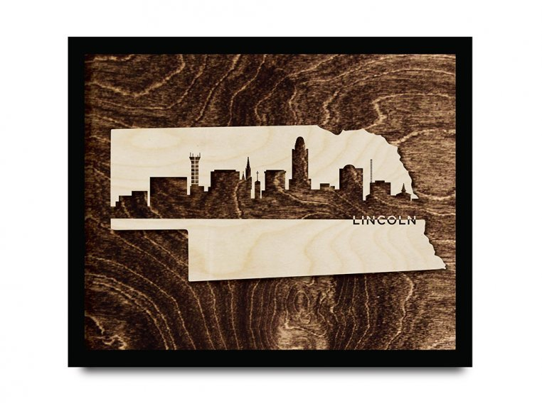 Framed Cityscape State Art by Grainwell - 77