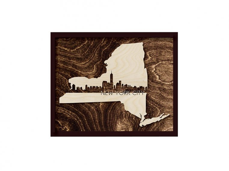 Framed Cityscape State Art by Grainwell - 86