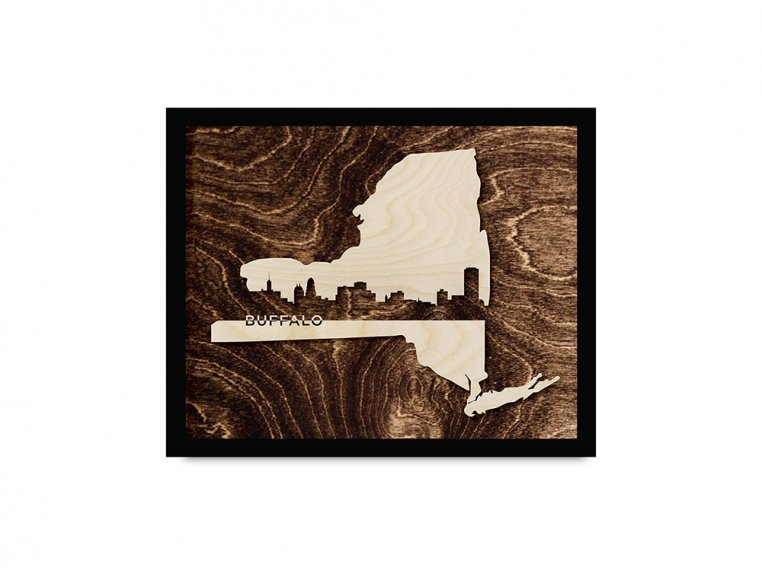 Framed Cityscape State Art by Grainwell - 88