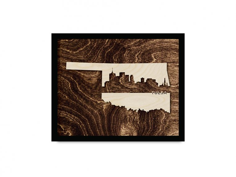 Framed Cityscape State Art by Grainwell - 100