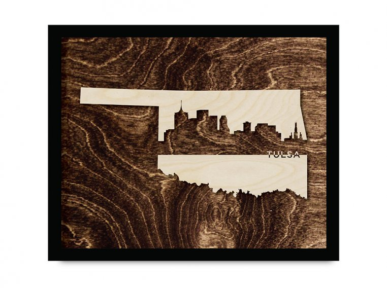 Framed Cityscape State Art by Grainwell - 101