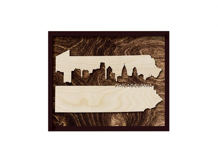 Framed Cityscape State Art by Grainwell - 106