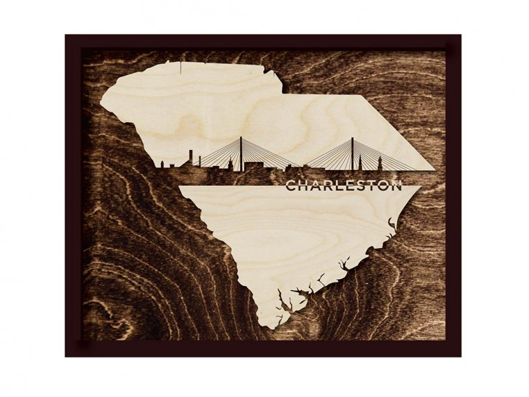 Framed Cityscape State Art by Grainwell - 111