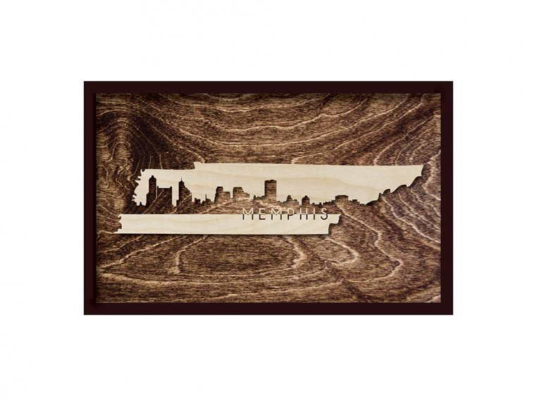 Framed Cityscape State Art by Grainwell - 114