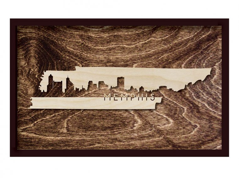 Framed Cityscape State Art by Grainwell - 115