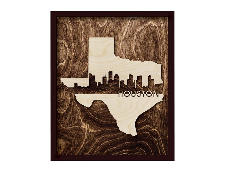 Framed Cityscape State Art by Grainwell - 123
