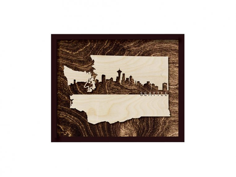 Framed Cityscape State Art by Grainwell - 130