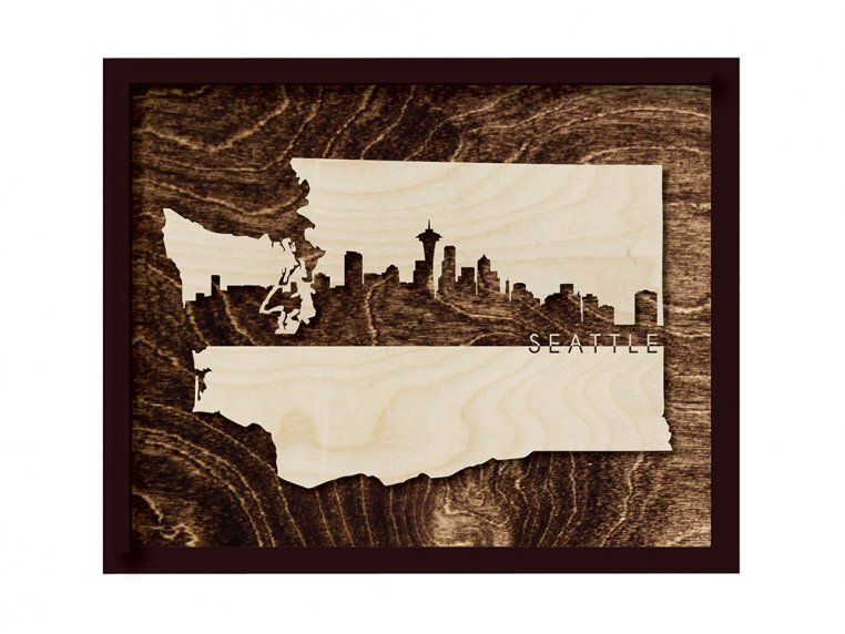 Framed Cityscape State Art by Grainwell - 131