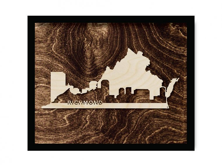 Framed Cityscape State Art by Grainwell - 136