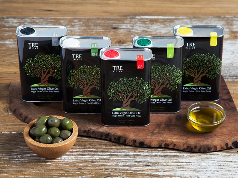 Olive Oil Gift Box - Set of 5 by TRE Olive - 1