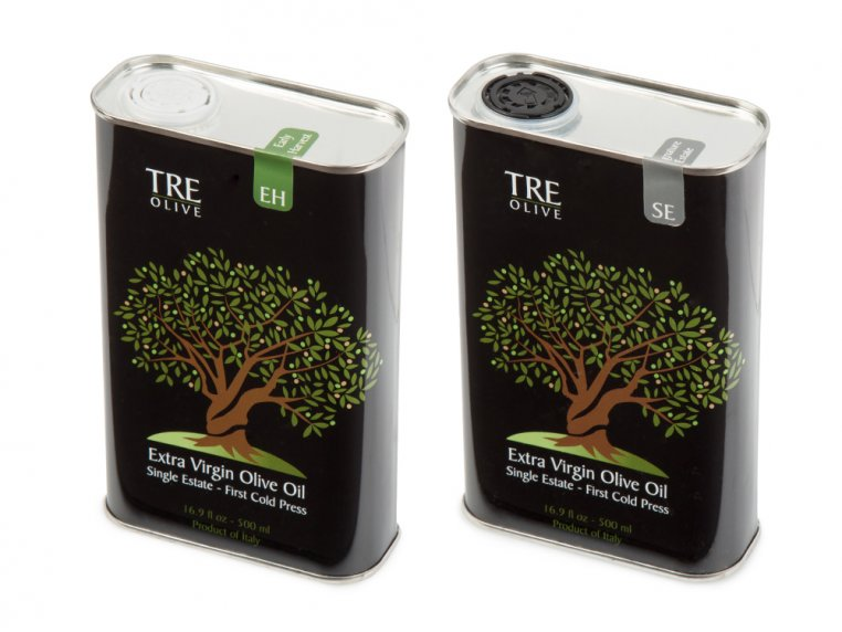 Olive Oil Gift Box - Set of 2 by TRE Olive - 12
