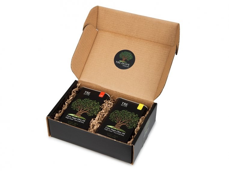 Olive Oil Gift Box - Set of 2 by TRE Olive - 3