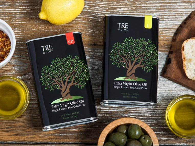 Olive Oil Gift Box - Set of 2 by TRE Olive - 1