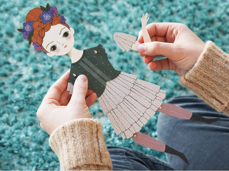 Handcrafted Paper Doll Kit by Of Unusual Kind - 2