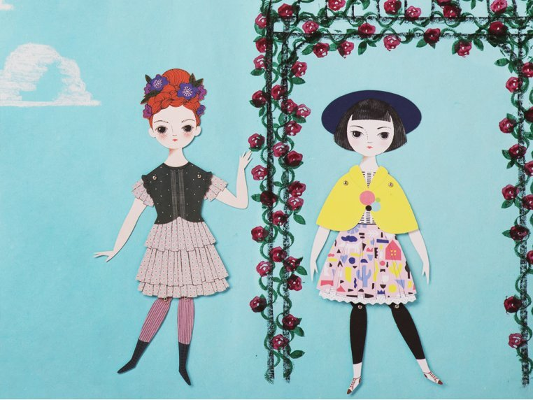 Handcrafted Paper Doll Kit by Of Unusual Kind - 4