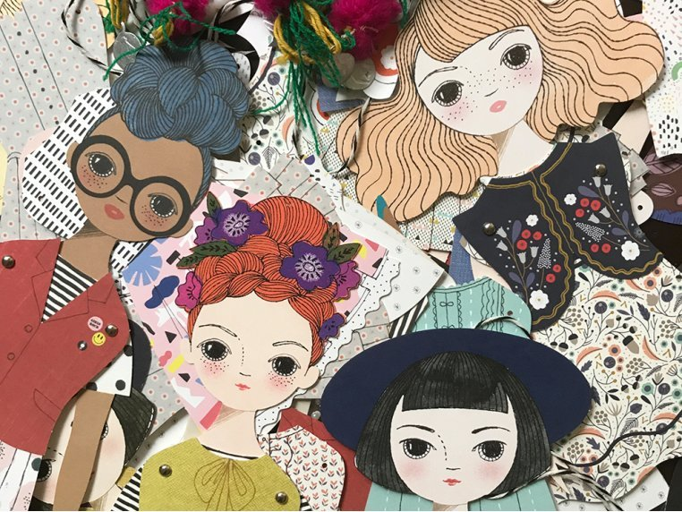 Handcrafted Paper Doll Kit by Of Unusual Kind - 5