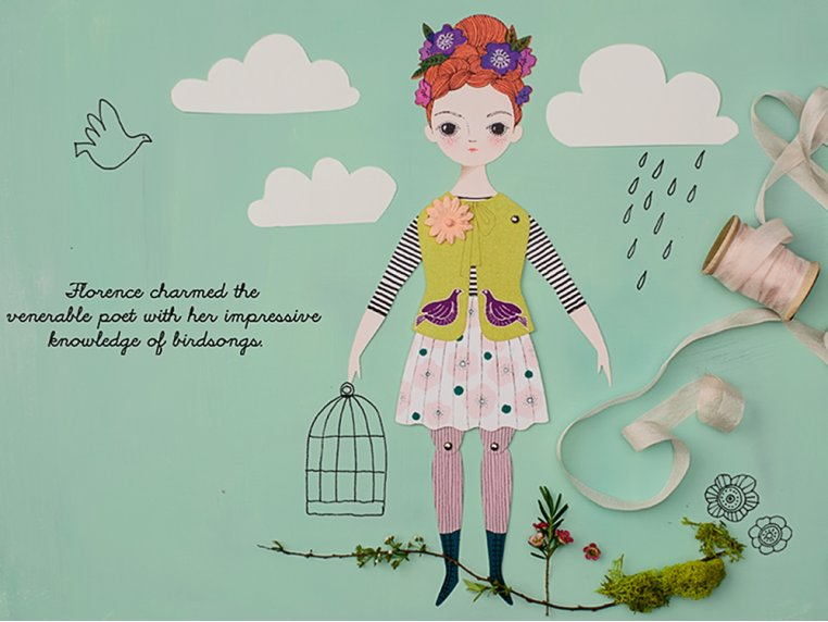 Handcrafted Paper Doll Kit by Of Unusual Kind - 1