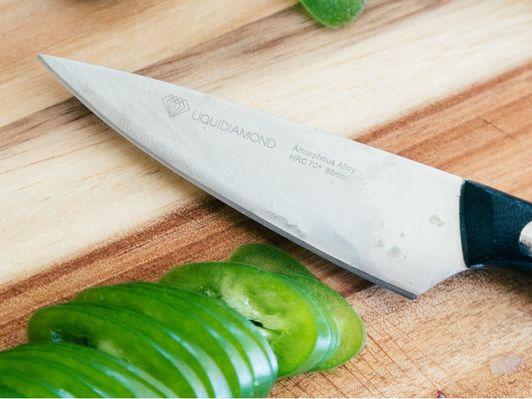 Amorphous Metal Stainless Steel Knives by Liquidiamond Knives - 2