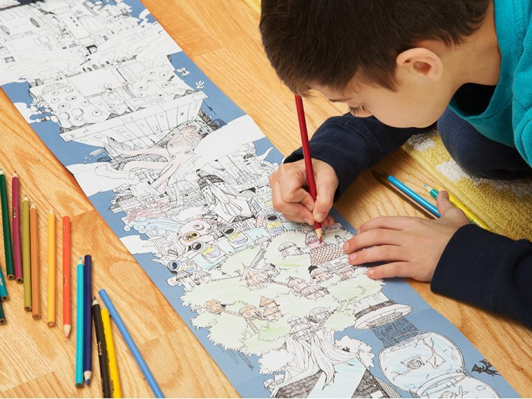 15 ft Fold-Out Coloring Book by The Longest Coloring Book - 2