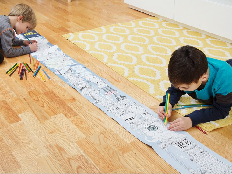 15 ft Fold-Out Coloring Book by The Longest Coloring Book - 3