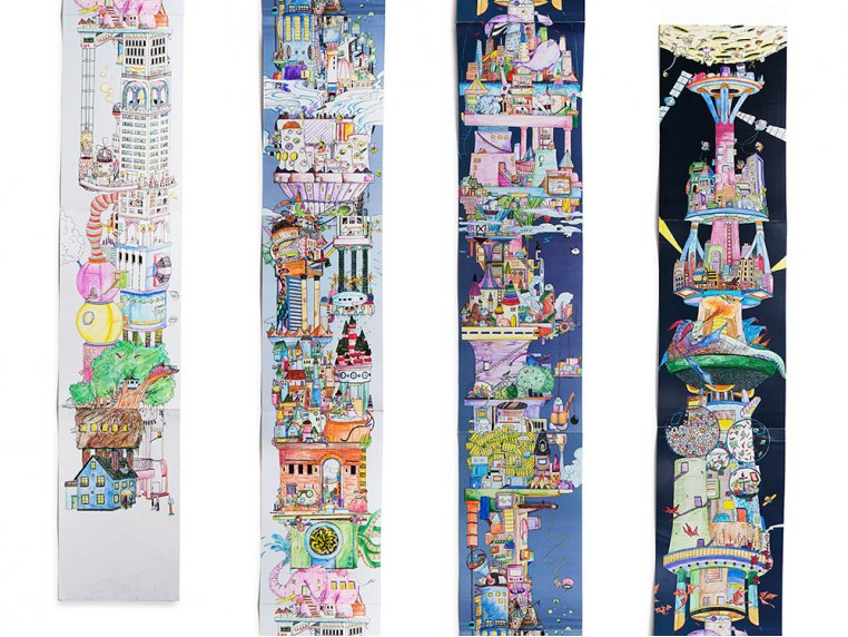 15 ft Fold-Out Coloring Book by The Longest Coloring Book - 4