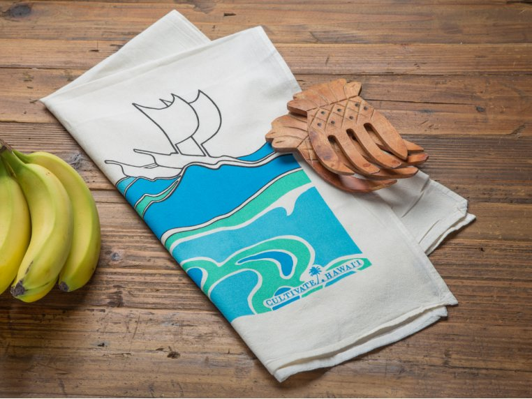 Hawaiian Flour Sack Tea Towel by Cultivate Hawaii - 1