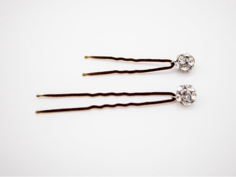 Flocked Non-Slip Charm Hair Pins by Frenchies - 3