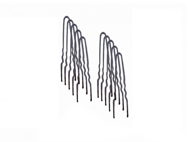 Flocked Non-Slip Hair Pins - 100 Pack by Frenchies - 7