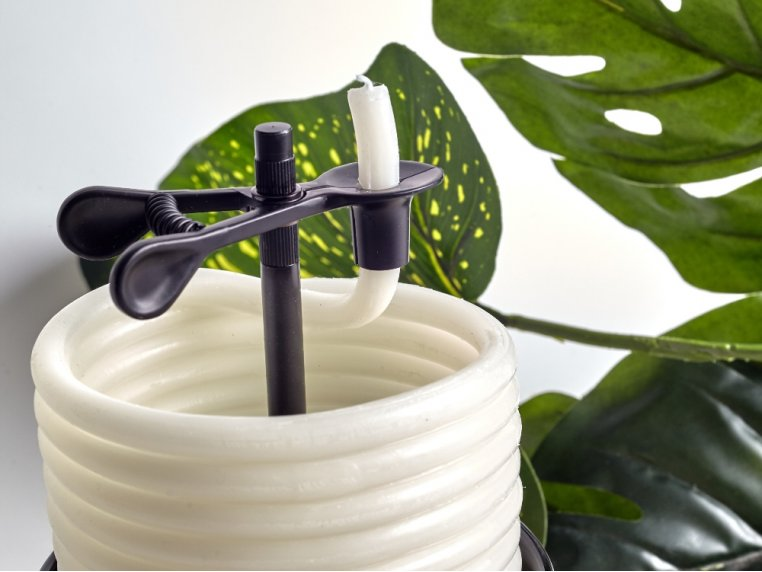 Bamboo Ceramic Coil Candle by Candle By The Hour - 2
