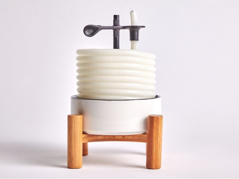 Bamboo Ceramic Coil Candle by Candle By The Hour - 4