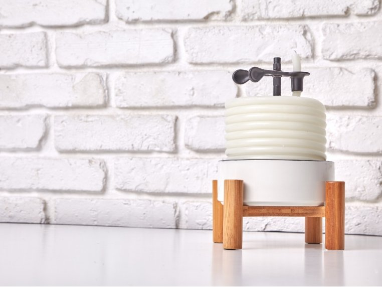 Bamboo Ceramic Coil Candle by Candle By The Hour - 1