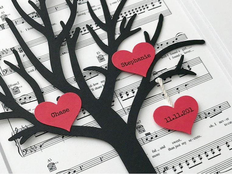 Custom Anniversary Sheet Music Art by Paper'd Moments - 4