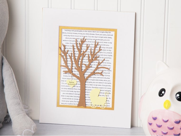 Personalized New Baby Lullaby Art by Paper'd Moments - 1